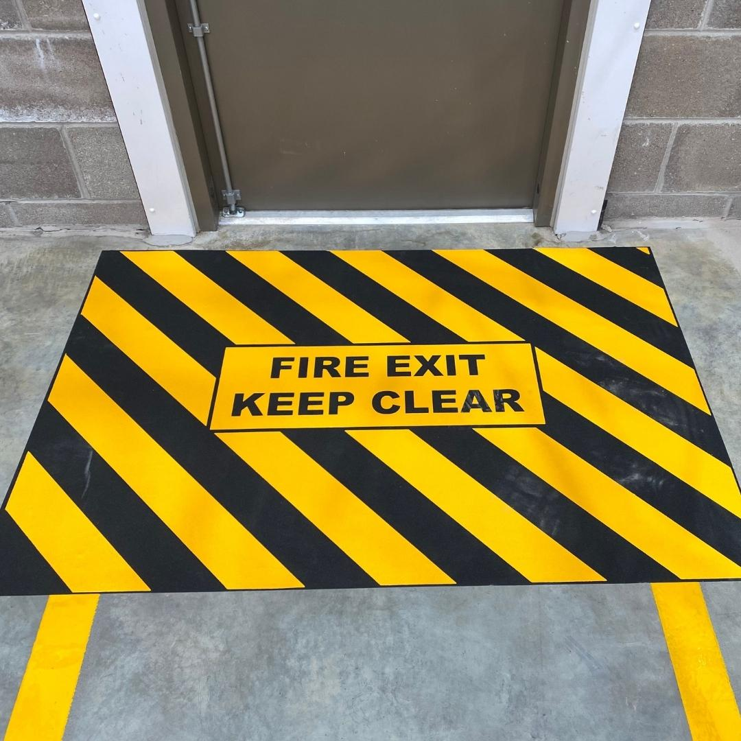 Fire Door Exit Line Marking